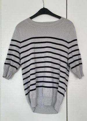 H&M Pull à manches courtes noir-blanc