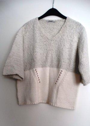 Sem per lei Maglione di lana bianco sporco-beige chiaro Tessuto misto