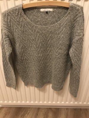Only Pull en laine gris clair-blanc