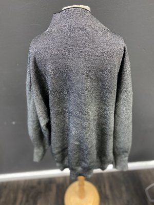 H&M Oversized Sweater black-silver-colored