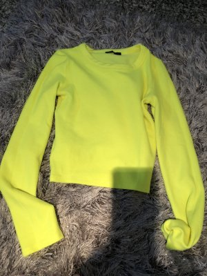 Trf by Zara Sweter oversize żółty neonowy