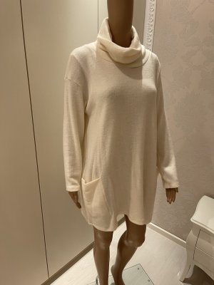My Style Długi sweter bez rękawów w kolorze białej wełny-kremowy