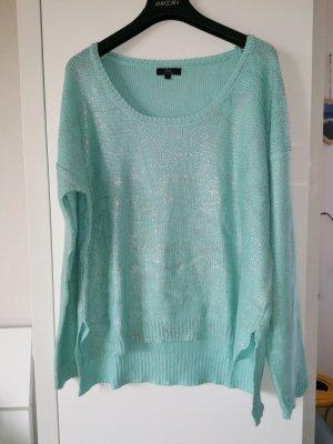 Ann Christine Kraagloze sweater lichtblauw