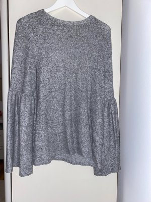 Zara Fleece Jumper silver-colored