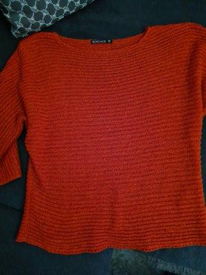 Blind Date Grof gebreide trui rood Polyester