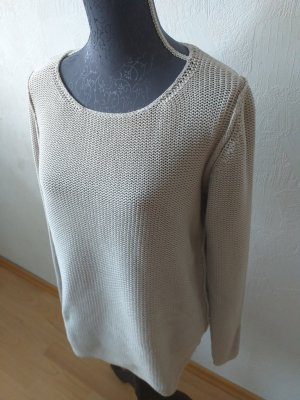 Marc O'Polo Coarse Knitted Sweater light grey-oatmeal