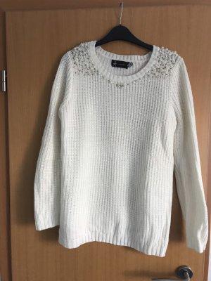 Atmosphere Maglione di lana bianco sporco
