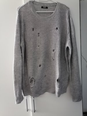 Colloseum Coarse Knitted Sweater grey