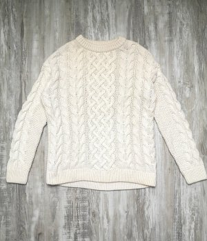 & other stories Cable Sweater natural white