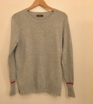 S.Marlon Knitted Sweater silver-colored-neon red
