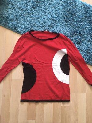 Passport Long Sweater red