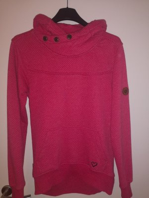 Alife & Kickin Jersey con capucha blanco-rosa