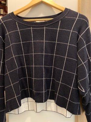Claudie Pierlot Crewneck Sweater dark blue-white