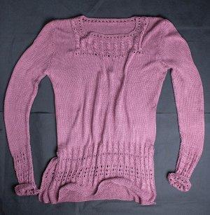 Selbstgehäkelter Crochet Sweater purple