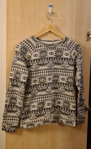 C&A Clockhouse Pull tricoté blanc-noir
