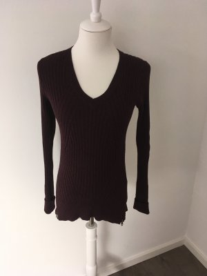 Abercrombie & Fitch V-Neck Sweater bordeaux