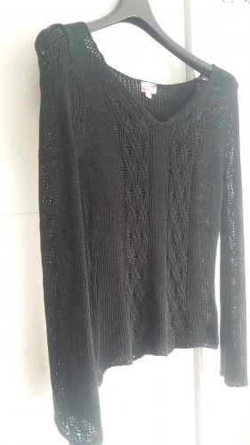 Crochet Sweater black