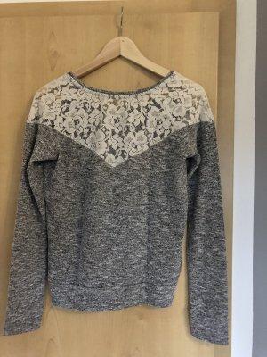 Jersey largo blanco-gris