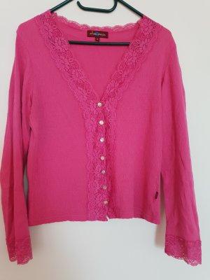 Uttam london Cienki sweter z dzianiny różowy