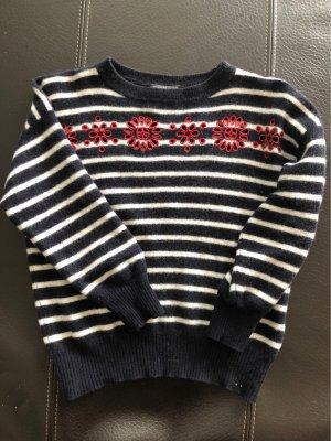 Alexander McQueen Kraagloze sweater donkerblauw