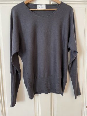 Allude Wool Sweater dark grey-dark blue