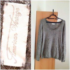 American Vintage Długi sweter szary