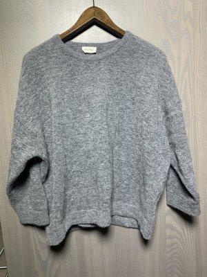 American Vintage Pull en laine gris