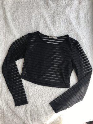 Atmosphere Sweter o skróconym kroju czarny