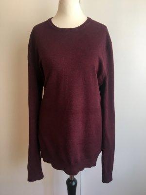 Pullover Aubergine rot lila von we oversized