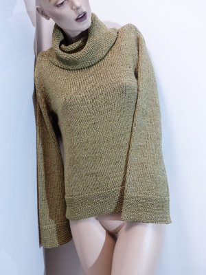 Pullover aus Bändchengarn mit Trompetenärmeln, Gr. 34 bis 38