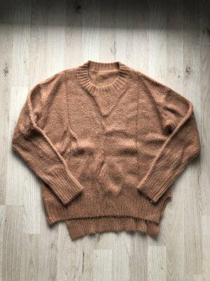 Jersey de lana marrón claro