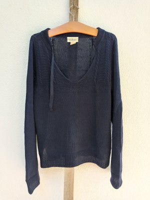 Denim & Supply Ralph Lauren Pull col en V bleu foncé
