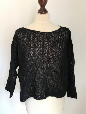 Benetton Cashmere Jumper black mohair