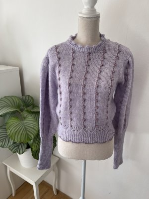Pullover aus Strick mit Metall-Fäden von Zara