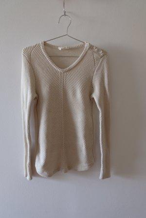 Ba&sh Wełniany sweter w kolorze białej wełny