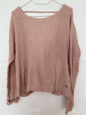 Hollister Crochet Sweater pink-dusky pink