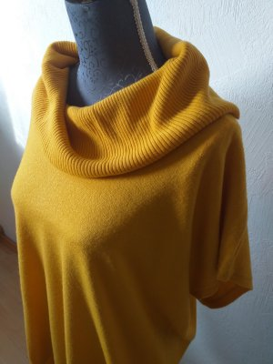 CANADA Sweter z golfem piaskowy brąz-złotopomarańczowy