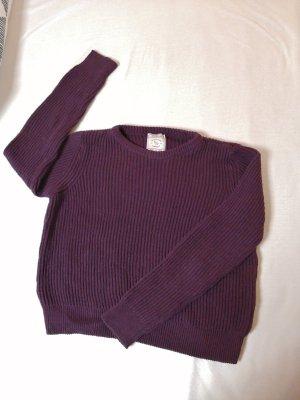 Pull & Bear Jersey de lana rojo zarzamora