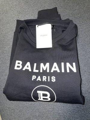 Balmain Kraagloze sweater zwart-wit