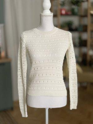 Mango Crochet Shirt natural white-white