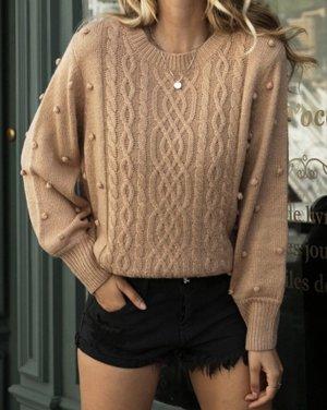 Pullover beige braun Strickpulli pulli Gr. 38 m