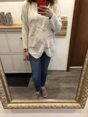 Coarse Knitted Sweater cream-oatmeal