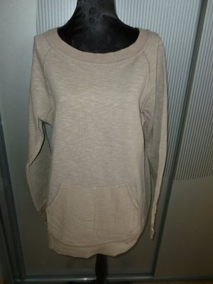 Pullover beige Pailletten Made in Italy