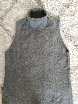 Benetton Pull-over à col roulé gris laine