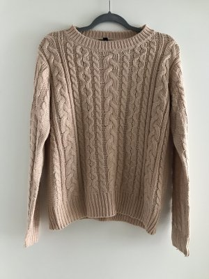 Atmosphere Coarse Knitted Sweater apricot-nude
