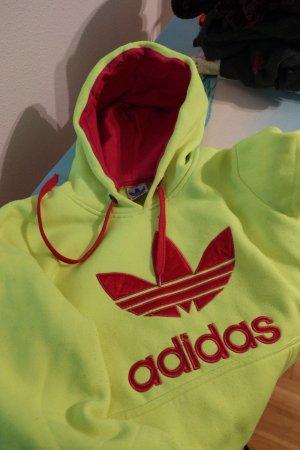 Adidas Sweter z kapturem żółty neonowy-różowy neonowy