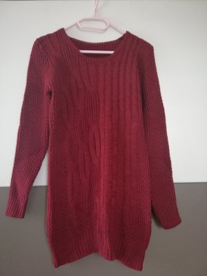Wełniany sweter ciemnoczerwony
