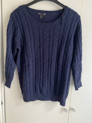 H&M Cable Sweater dark blue