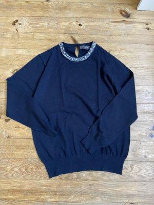 Pullover blau mit Glitzer