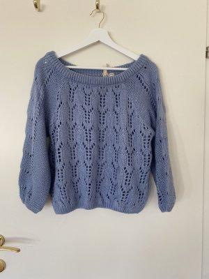 Pullover blau schulterfrei